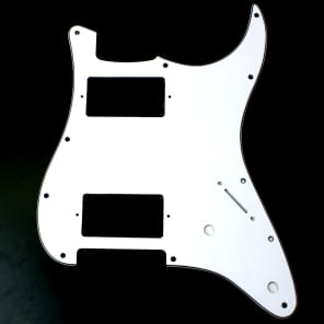 Custom Guitar Pickguard For Strat HH 2-pot Layout ,3ply white