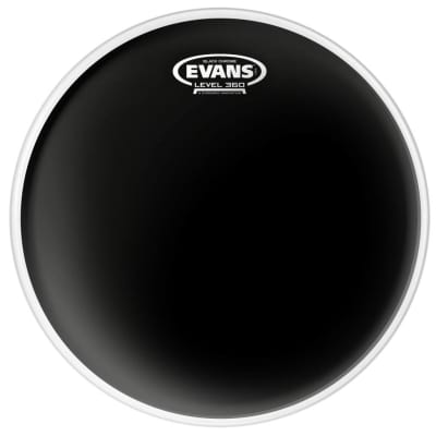 "Evans 12"" Black Chrome Drum Head"