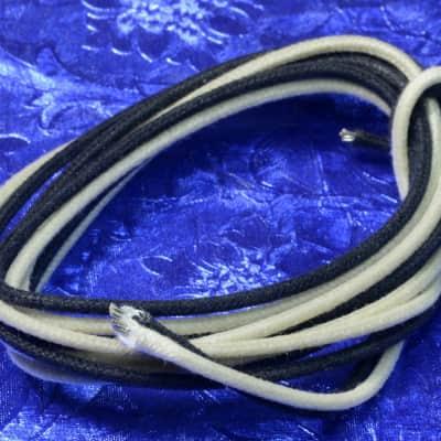12 Feet Gavitt USA Black & White Vintage Waxed Cloth Insulated 18g Wire For Old Guitar Amp Speaker