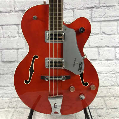 Gretsch Broadkaster G6119B Rock Orange Bass 4 String Bass Guitar