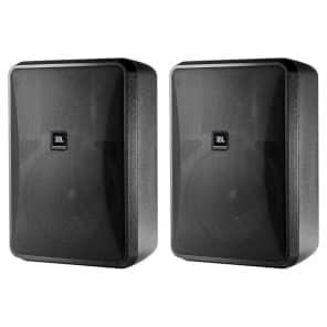 JBL Control 28-1 2-Way Indoor/Outdoor Passive Surface-Mount Loudspeakers (Pair)