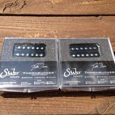 SUHR Thornbucker PAF SET Bridge & Neck Humbucker Pickups 50mm - Black - Pete Thorn Signature Model