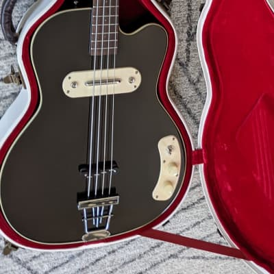 Kay Kay Vintage Reissue K162V Bass Guitar Black Limited Edition for sale