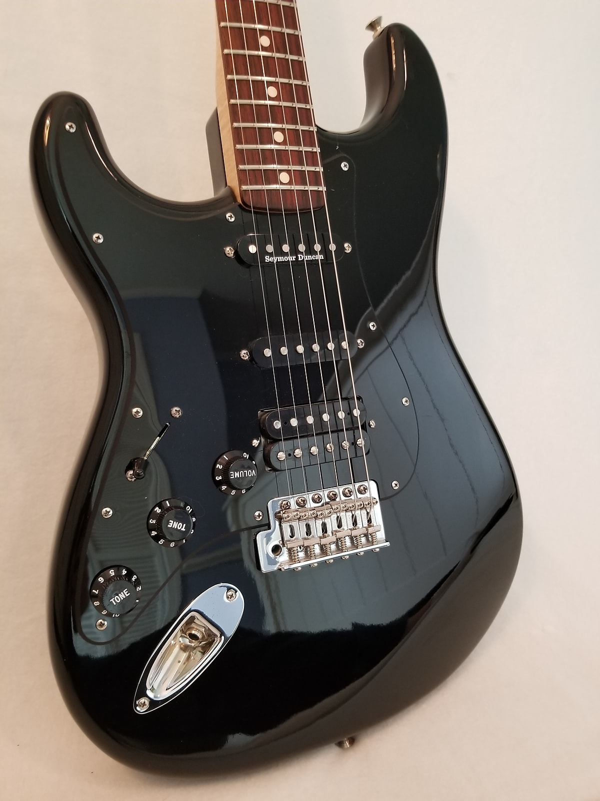 Fender Stratocaster MIM 2011 Black Gloss Left Handed - Many Mods