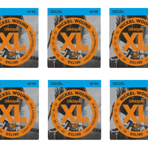 D'Addario EXL140-8 8-String Nickel Wound Electric Guitar Strings Light Top/Heavy Bottom 10-74 6 sets