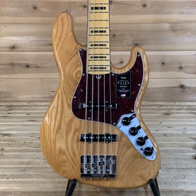 Fender American Ultra Jazz Bass V Electric Bass Guitar - Aged Natural for sale