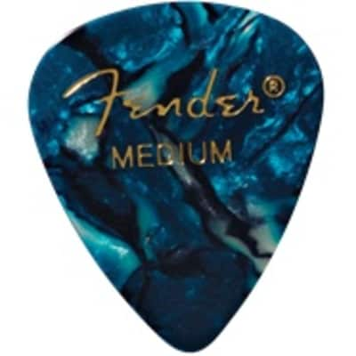 Fender Ocean Turquoise Medium Picks, 12-pack for sale