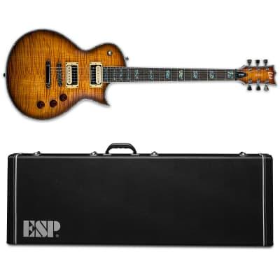 ESP LTD Deluxe EC-1000FM Amber Sunburst ASB BRAND NEW FREE HS CASE! EC-1000 EC1000 for sale