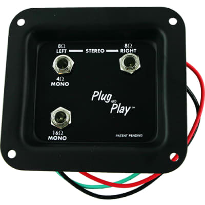 Mono/Stereo Plug and Play Jack Plate with Complete Wiring image