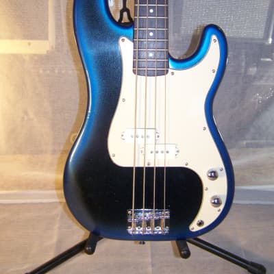 "Vintage Lotus ""P"" Bass Style Guitar, 1980s, Metallic Blue/Black Burst Finish"