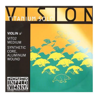 Thomastik-InfeldVIT02 Vision Titanium Solo Aluminum-Wound Synthetic Core 4/4 Violin String - A (Medium)