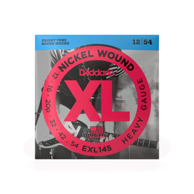 D'Addario EXL145 Heavy Gauge Nickel Wound Strings 12-54
