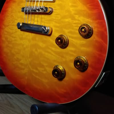 Epiphone Les Paul Ultra Pro Faded Cherry Sunburst upgraded Volume Pots and Hard Case for sale