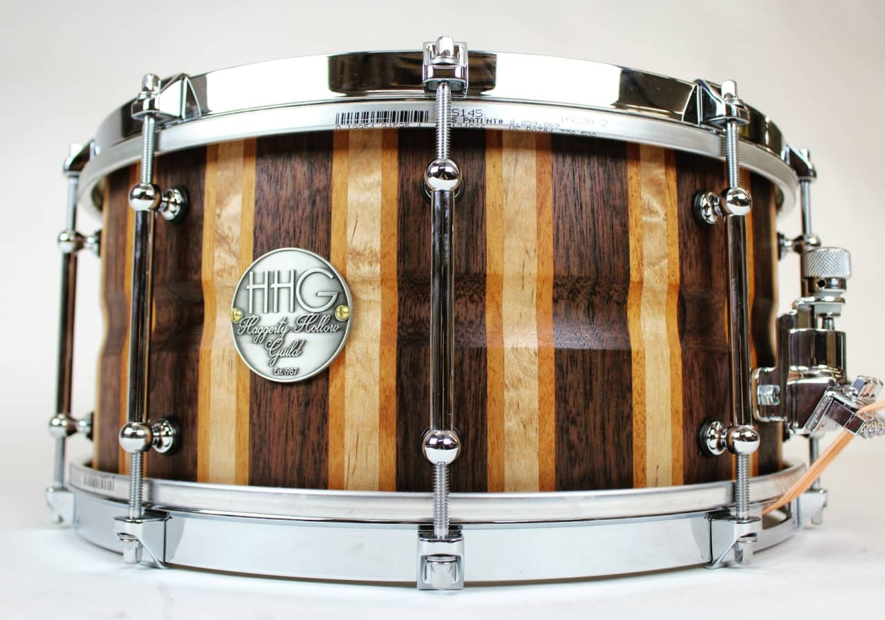 hhg 14x7 walnut maple and cherry stave snare drum by hhg reverb. Black Bedroom Furniture Sets. Home Design Ideas