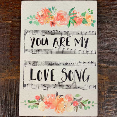 Life is Music Decor Plaque - Love Song