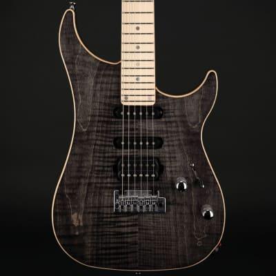Vigier Excalibur Ultra Blues HSS, Maple in Black Diamond with Case #180234 for sale
