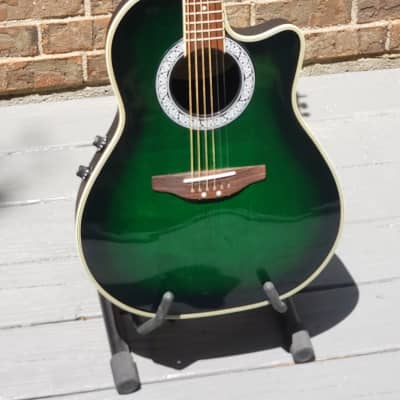 Segovia Vester 2000s Transparent Green Burst for sale