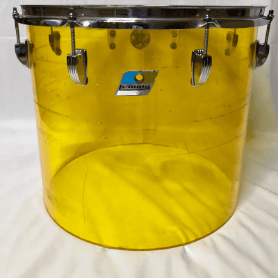 """1970s Ludwig Vistalite 14x16"""" Concert Tom with Single-Color Finish"""