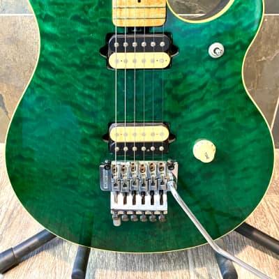 Extremely Rare Vintage Green Ernie Ball Music Man Eddie Van Halen Signature OHSC (A1) for sale