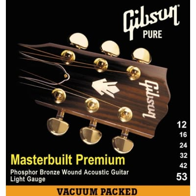 Gibson Gear Masterbuilt Premium Phosphor Bronze Acoustic, Super Ultra Light, 10-47 for sale