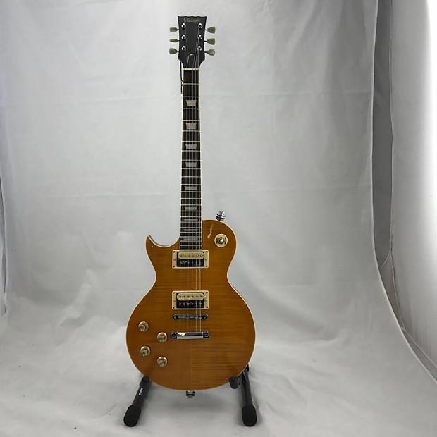 Left Handed Vintage V100 Afd Lp Shape Electric Guitar Reverb