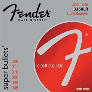 Fender 3250LR Super Bullets Electric Guitar Strings Set - LIGHT REGULAR 9-46