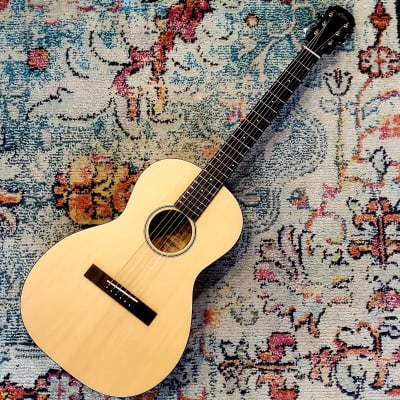 Aria 131 Matte Natural Parlor Acoustic Guitar for sale