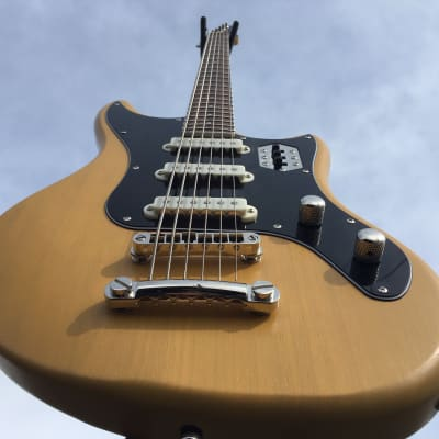 "Schecter Diamond Series Prototype Hellcat-VI TV Yellow Pearl 30"" Baritone (Unique & one of a kind!) for sale"