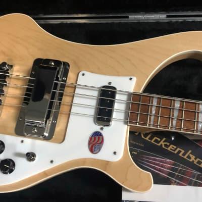 NEW! 2021 Rickenbacker 4003 Bass Maple Glo Authorized Dealer - Newest Model Unfinished Fretboard!