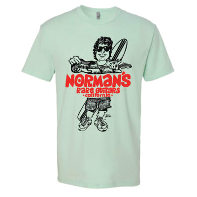 Vintage 80's Surfer Norm in Sea Foam Green Small