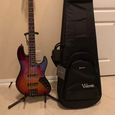 Valenti Custom Jazz Bass Burst for sale