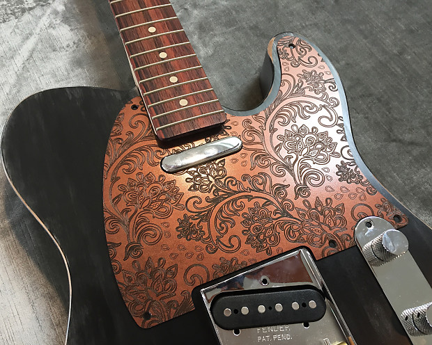 Faux Copper Paisley Custom Bakelite Pickguard Fender 174 Reverb