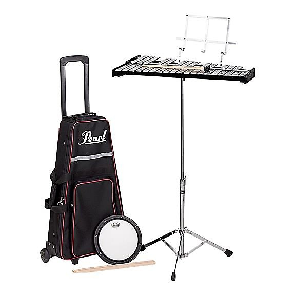 Pearl pk900c student bell kit w rolling backpack reverb for Yamaha student bell kit with backpack and rolling cart