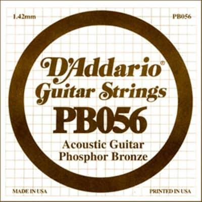 D'Addario Phosphor Bronze Acoustic Single String PB056