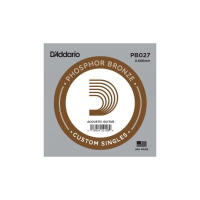 D'Addario Phosphor Bronze Acoustic Single String PB027