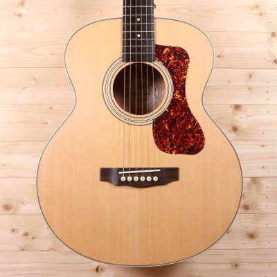 Guild Jumbo Junior Solid Spruce Top / Layered Flame Maple Travel Acoustic-Electric Guitar for sale