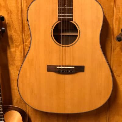 St. Matthew D-3E Dreadnought Electric Acoustic Guitar Solid Spruce Top Natural w/ Gig Bag for sale