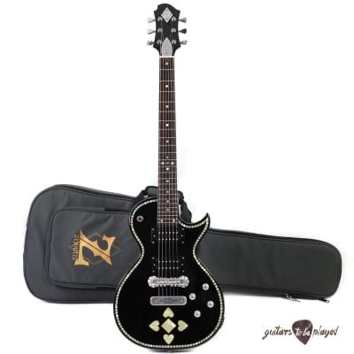 Zemaitis C24SU Superior Casimere Electric Guitar w/ Gigbag - Black Pearl Heart for sale
