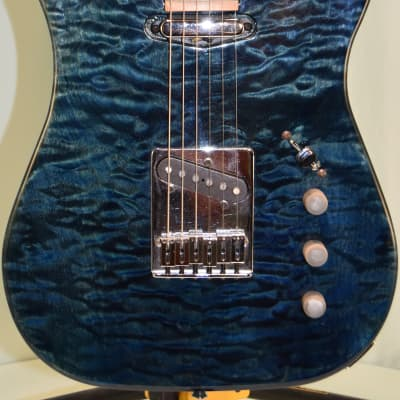 PBC Telecaster Style  80s Blue Flame (stock #120) for sale