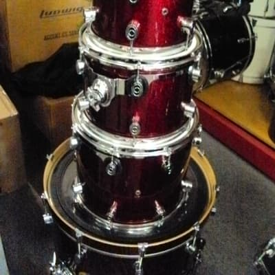 Pacific by DW All Maple 5pc shell pack Red Sparkle