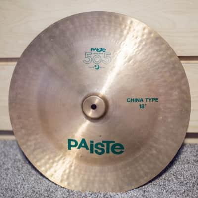 """Paiste 18"""" 505 """"Green Label"""" China Type Cymbal"""