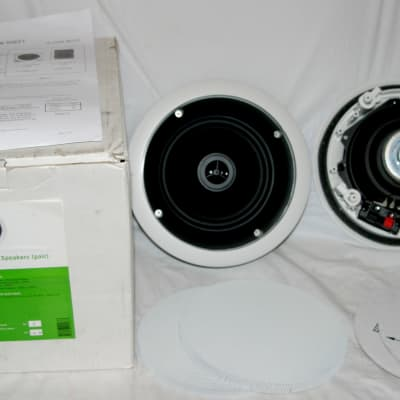 """On Q Home Value Line 6.5"""" In Ceiling Speakers - Pair 364764-02 - New / Open Box"""