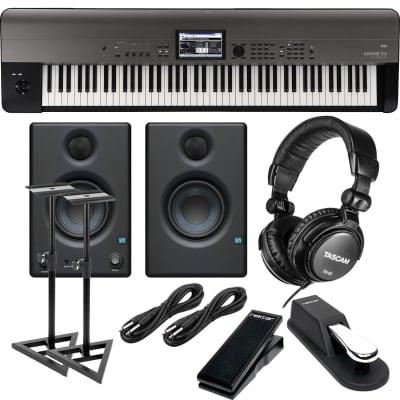 Korg Krome EX 88 – Music Workstation, Presonus Eris3.5, Sustain Pedal, Nektar NX-P, (2) 1/4 Cables, Tascam TH02 Bundle