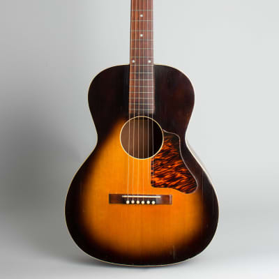 Recording King Carson Robison Model K Flat Top Acoustic Guitar, made by Gibson,  c. 1938, black hard shell case. for sale