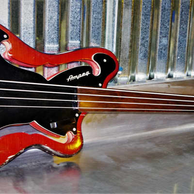 Ampeg AUB-1   1966 Black / Red /  Burst.  #30 of 400 Built.  Real Jazz Bass Guitar. Rare Collectible for sale