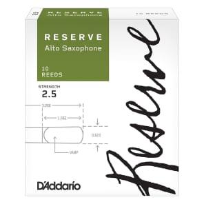D'Addario DJR1020 Reserve Alto Sax Reeds - Strength 2.5 (10-Pack)