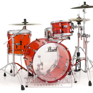 Pearl Crystal Beat Acrylic Drum Set 24/13/16 Ruby Red