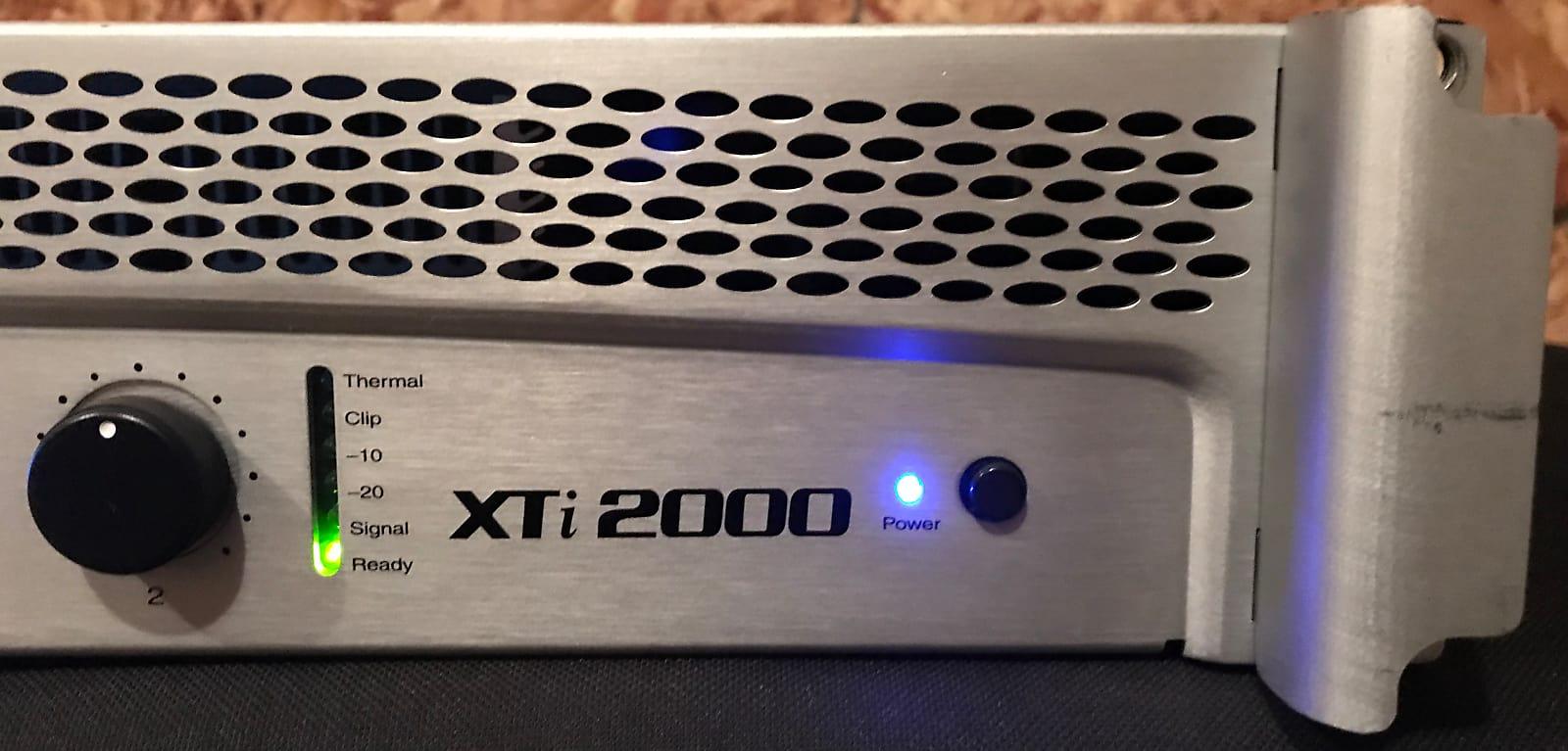 Crown Xti 2000 2 Channel Power Amplifier Watts Used Excellent Watt Condition