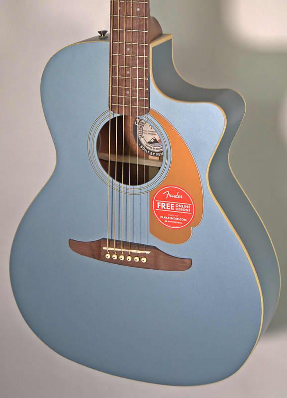 Fender Newporter Player Ice Blue Satin   Reverb