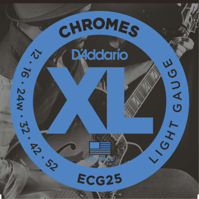D'addario ECG25 XL Chromes Flat Wound Strings